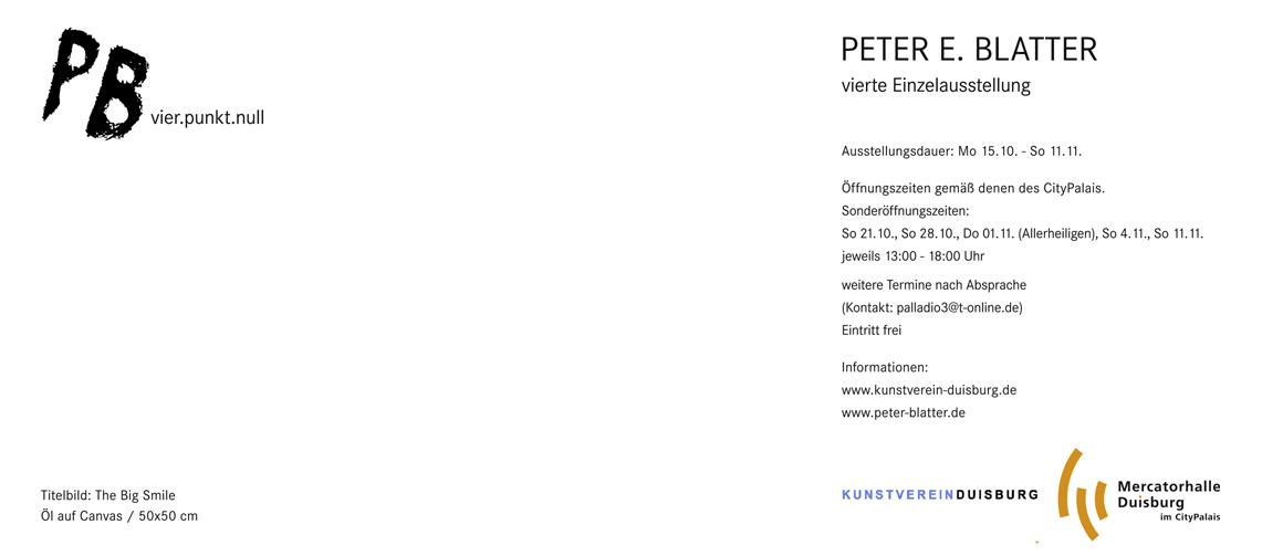 Peter Blatter - Die neue Ausstellung